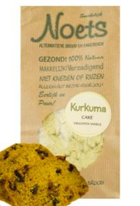 Noets Kkerstcake met vers fruit Kurkuma cake van Noets in de smaak: vruchten vanille.kerstcake met vers fruit Cakemix met Kurkuma en Vanille